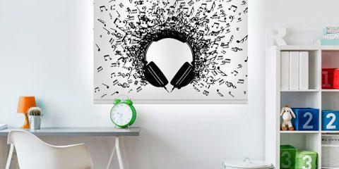 Estor enrollable juvenil - Colección Música