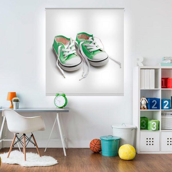 Estor enrollable juvenil - Colección Sneakers