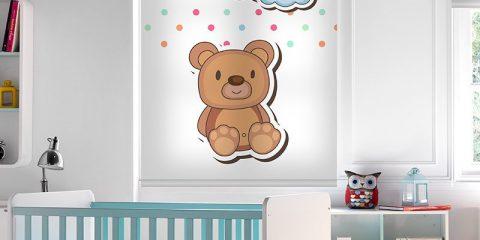 Estor enrollable infantil - Colección Stickers