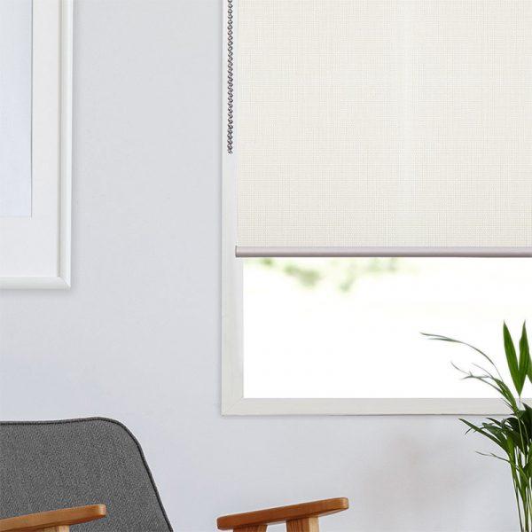 Ambiente Estor Enrollable Screen Fibra 3 Blanco